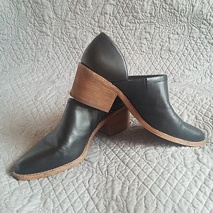 Madewell The Brady Lowcut Bootie- Black Leather